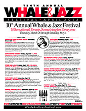 Tenth Annual Whale & Jazz Festival program