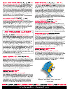 Eleventh Annual Whale & Jazz Festival program
