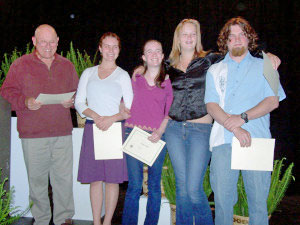 2006 Gualala Arts Young Artists Scholarship winners (not all present)