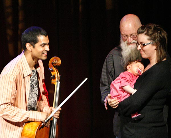 Terry Riley with Kronos Quartet at the Art in the Redwoods Festival 2009