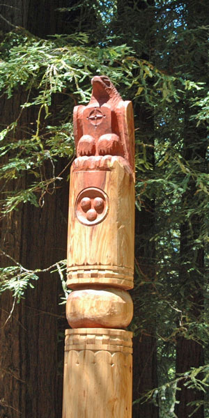 Yakut Totem, Gualala Arts Center, July, 2012