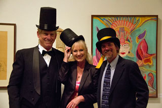 Art in the Redwoods Top Hat Dinner, Bob & Roxanne Claflin and David