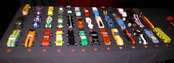 2013 Winternationals Pinewood Derby entrants