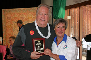 2014 Chowder Challenge: Chef Denise Souza (right) with judge Jeremy Crockett