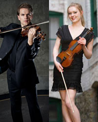 Mads Tollings and Emma Steele, violin
