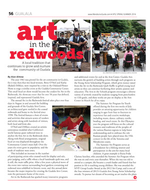 2014 Art in the Redwoods - Mendocino Guide
