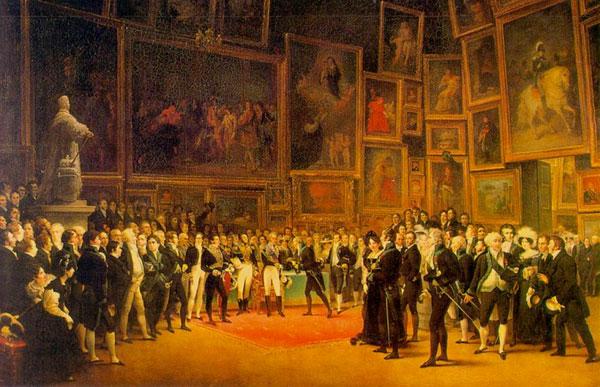 Le Salon de 1824, by François-Joseph Heim