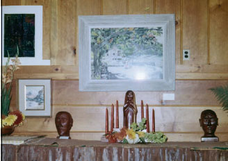 Wood sculpture was included in the first shows, along with watercolors and oils.