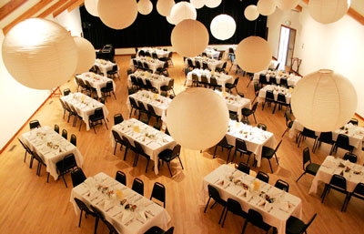 Coleman Hall set for wedding dinner