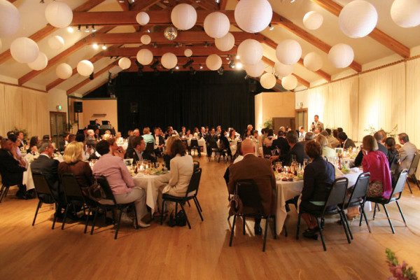 Wedding dinner in Coleman Auditorium