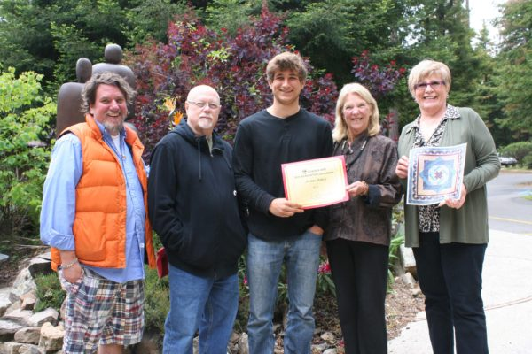2015 Young Artists Scholarship Winner Joshua James Riboli with members of the Scholarship Committee