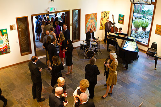 Wedding reception in the Gualala Arts Center Foyer