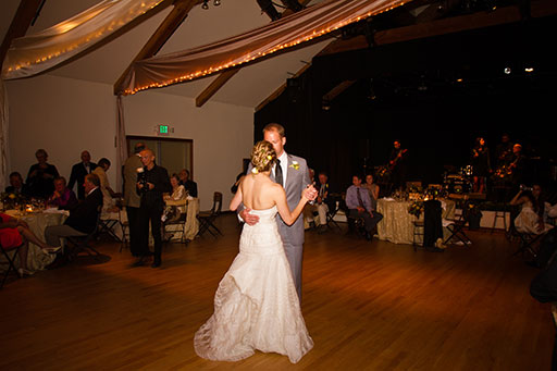 Wedding dinner & dance in the Gualala Arts Center auditorium