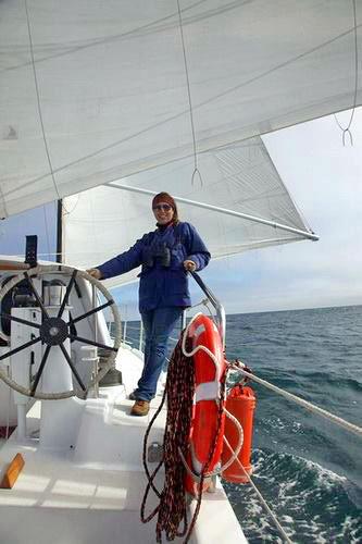 Jodi Smith on the Bayliss Research Vessel