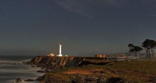 """Point Arena Lighthouse at Night"" © 2011 Richard Skidmore"