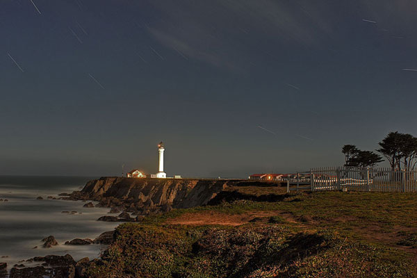 """Point Arena Lighthouse at Night"" © 2011 Richard Skidmore"