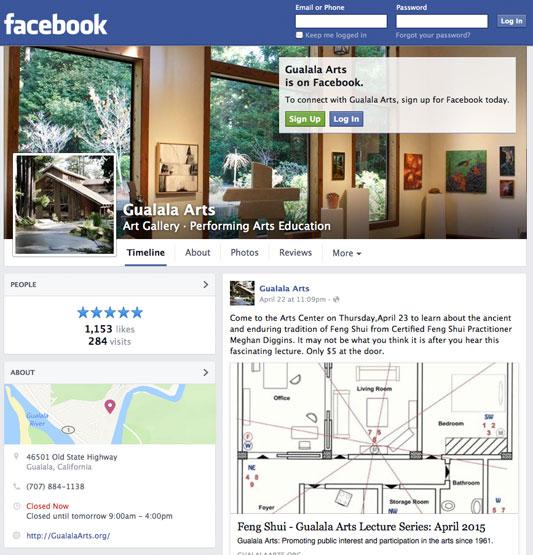 Gualala Arts Facebook page, 2015