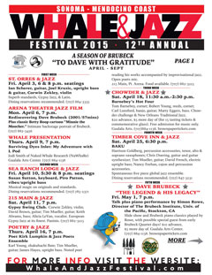 2015 Whale & Jazz Festival Program