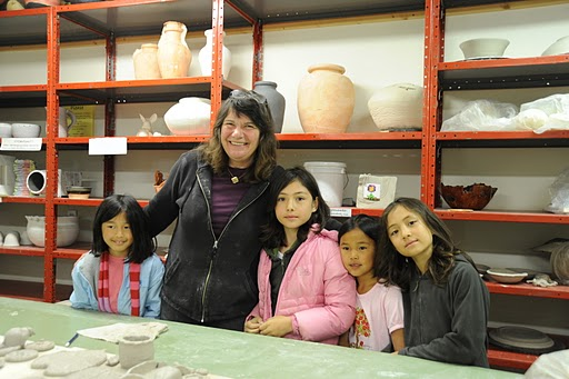 Clay Studio: Jane Head with young clay artists