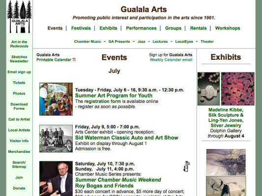 Events page, 2010