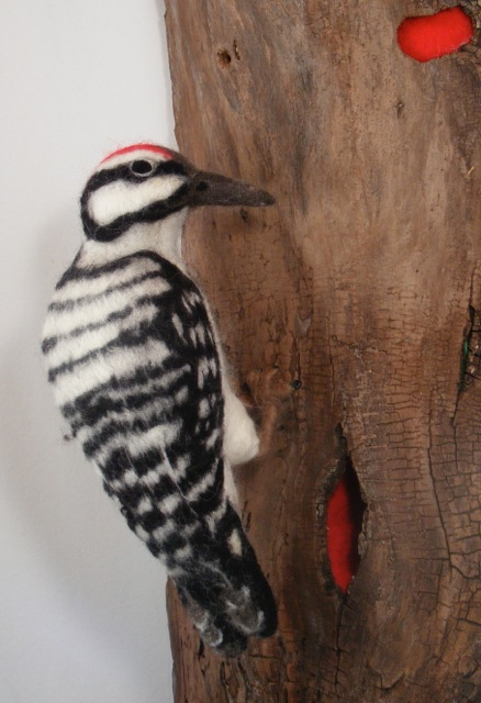Attwell felting workshop woodpecker