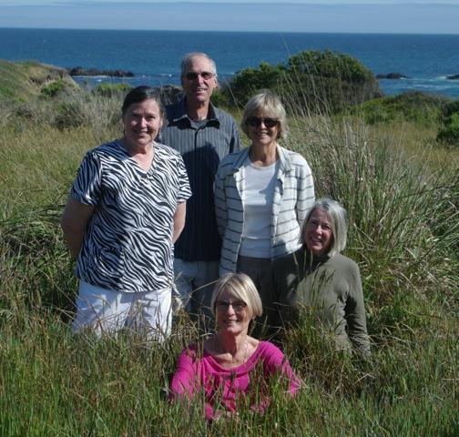 Clockwise from the top:   Roland Stoughton, Marjie Van Gunten, Linda Eastman, Jane Schuler-Repp, Pat Wilson