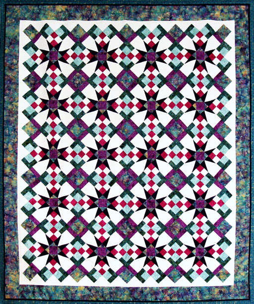 """Celestial Magic"" 2015 Art in the Redwoods Raffle Quilt"