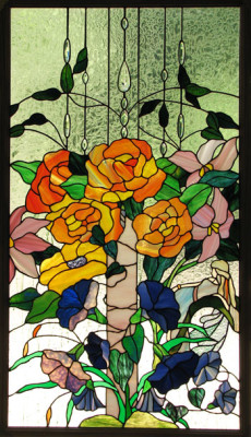 stained glass flowers by Star DeHaven