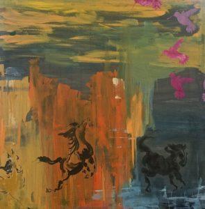 Birds with Horses/Paula Rie Bonham