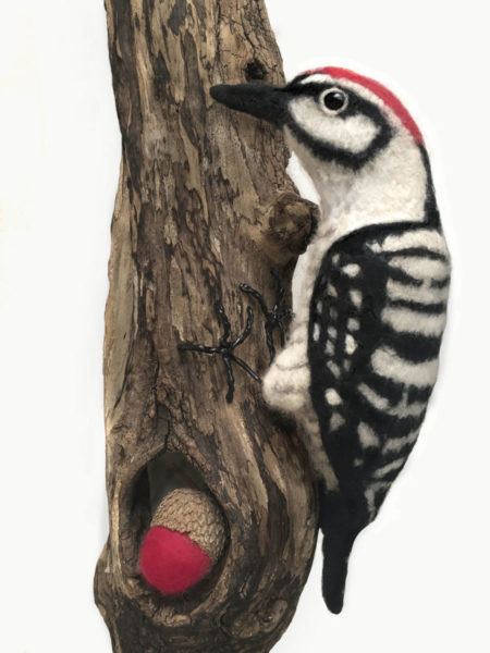 Needle Felted Works Woodpecker
