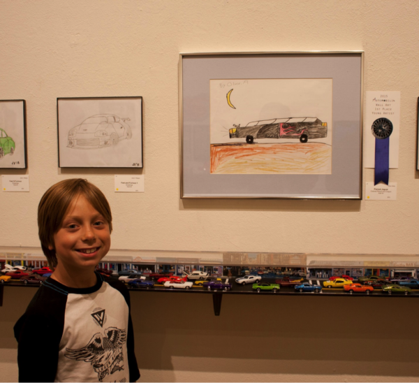 "2015 Auto Show People's Choice Award Youth ""Flamed Jaguar"" by Oliver Abdu"
