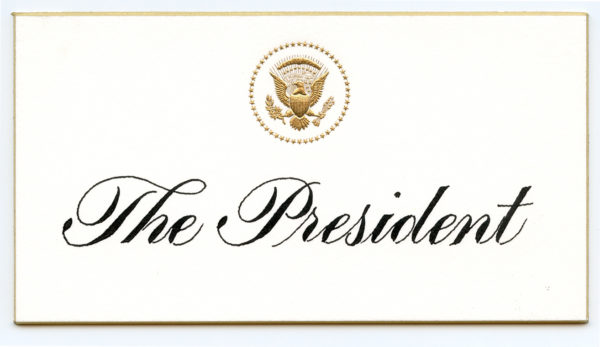 POTUS Place Card by Rick Paulus