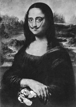 Mona Lisa, by Salvador Dali