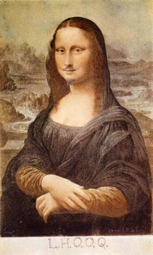 Mona Lisa, by Marcel Duchamp