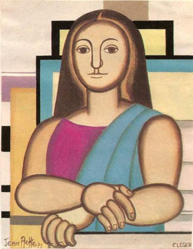 Mona Lisa, by Fernand Leger