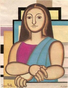 Mona Lisa, by Fernand Leger