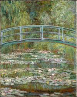 Bridge over a Pond of Water Lilies, by Claude Monet