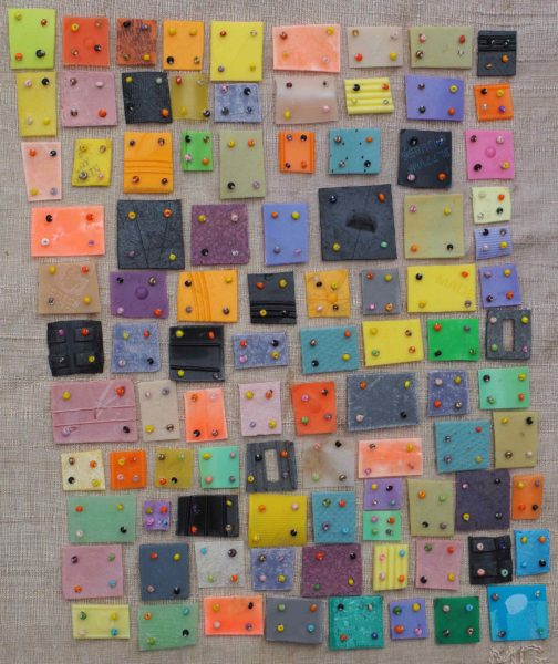 Marilyn Green, plastic quilt